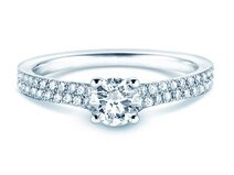 Verlovingsring Claire in 18K witgoud met diamanten 0,70ct