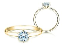 Verlovingsring Melody in 18K geelgoud met diamant 0,75ct. G/SI
