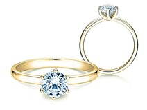 Verlovingsring Melody in 18K geelgoud met diamant 1,00ct. G/SI